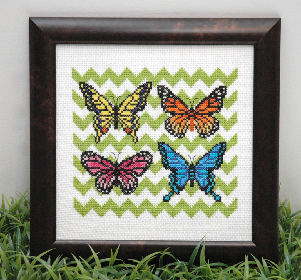 Beautiful Butterflies Cross Stitch Pattern Instant Download