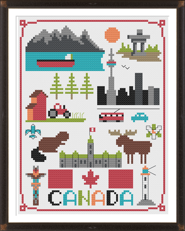 Canada Cross Stitch Pattern Instant Download