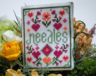 Floral Needle Case Cross Stitch Pattern Instant Download