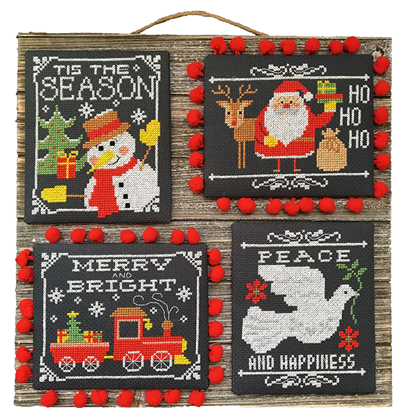 Christmas Chalkboard Greetings Cross Stitch Pattern Instant Download