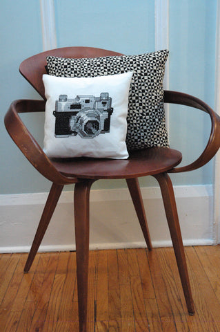 Vintage Camera Cross Stitch Pattern Instant Download