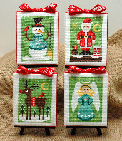 Christmas Cuties Four Cross Stitch Pattern Instant Download