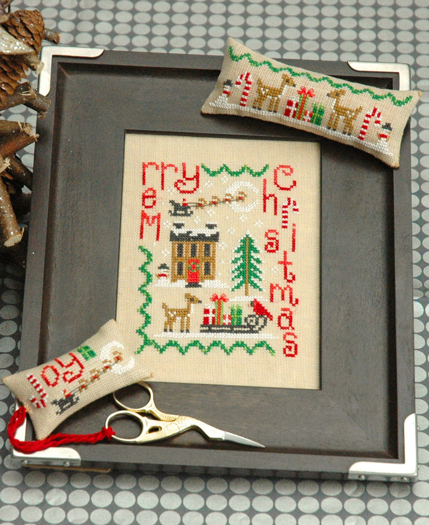 Merry Christmas Trio Cross Stitch Pattern - PDF Instant Download