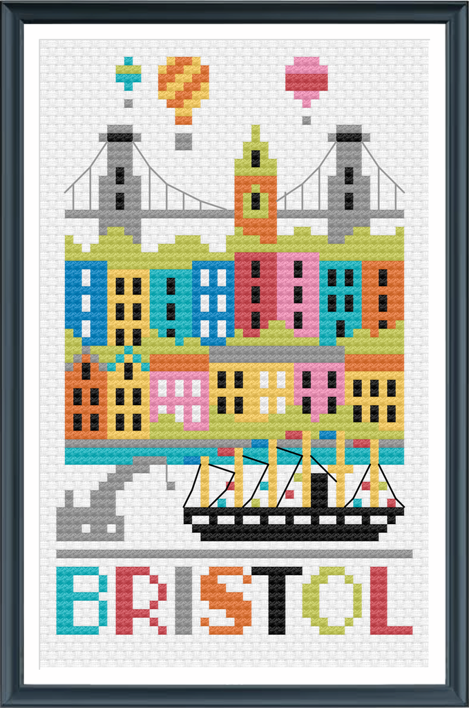 NEW! Bristol City Cross Stitch Chart Instant Download