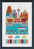 San Antonio Cross Stitch Chart Instant Download