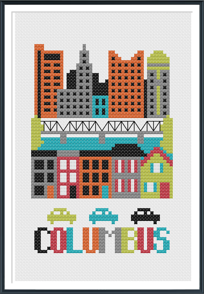 Columbus Ohio Cross Stitch Pattern Instant Download