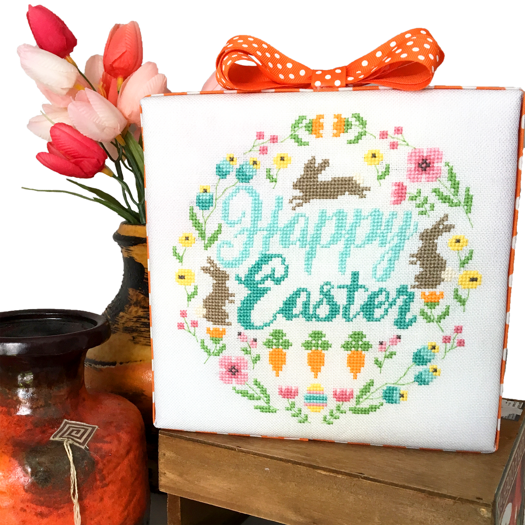Modern Cross Stitch - Easter Wreath Cross Stitch Pattern PDF