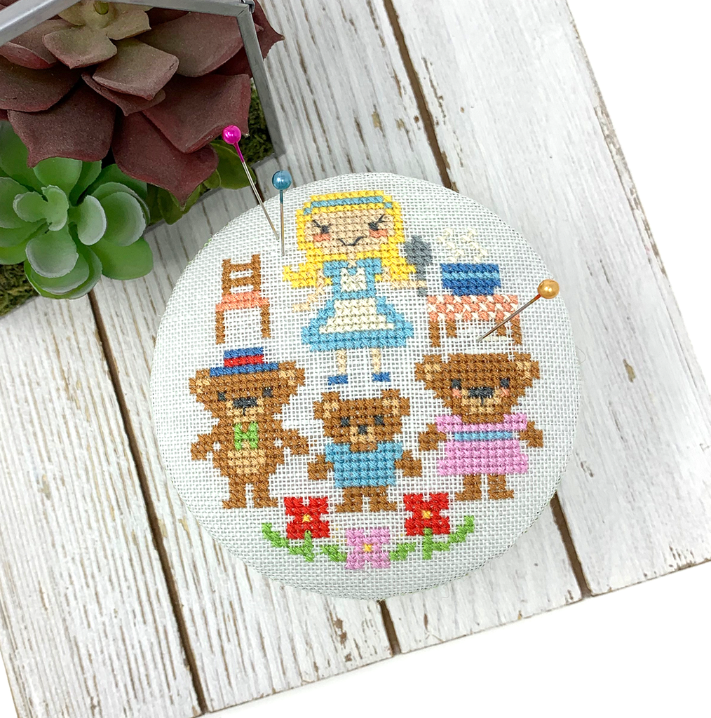 Goldilocks Pin Cushion - Fairy Tale Series Cross Stitch Pattern