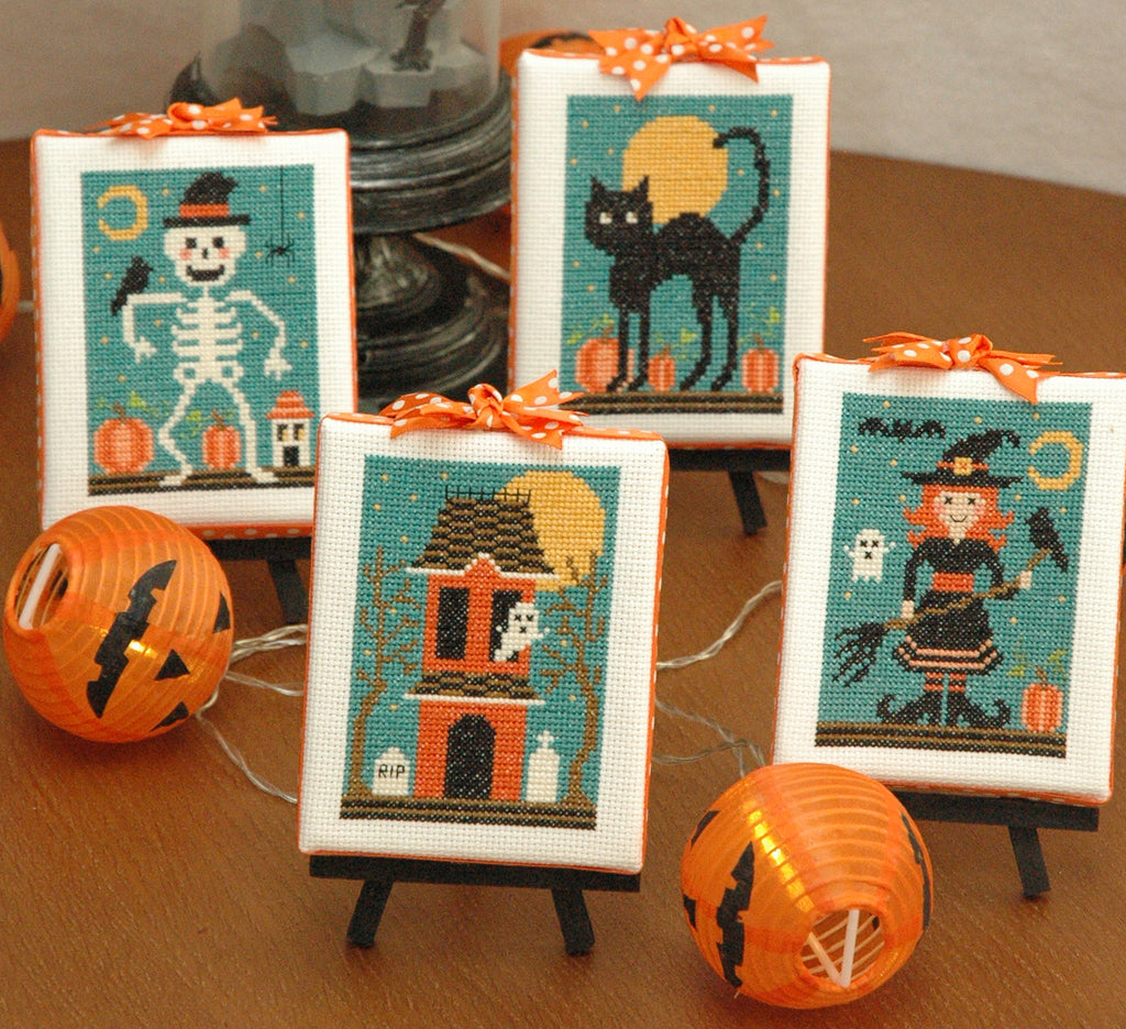 Halloween Cuties Four Cross Stitch Pattern Instant Download