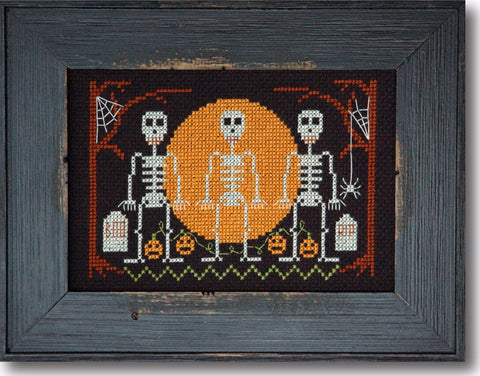Halloween Skeletons Cross Stitch Pattern Instant Download
