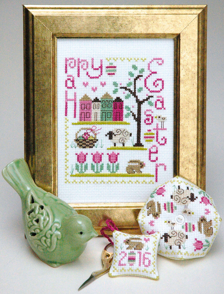 Happy Easter Trio Cross Stitch Patterns Instant Download