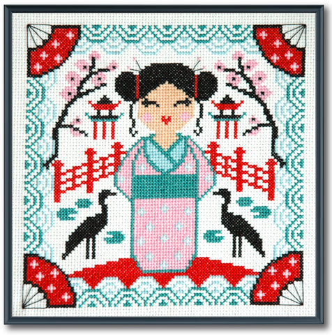 Kokeshi Doll cross stitch pattern Instant Download