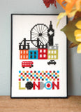 London Cross Stitch Pattern Instant Download