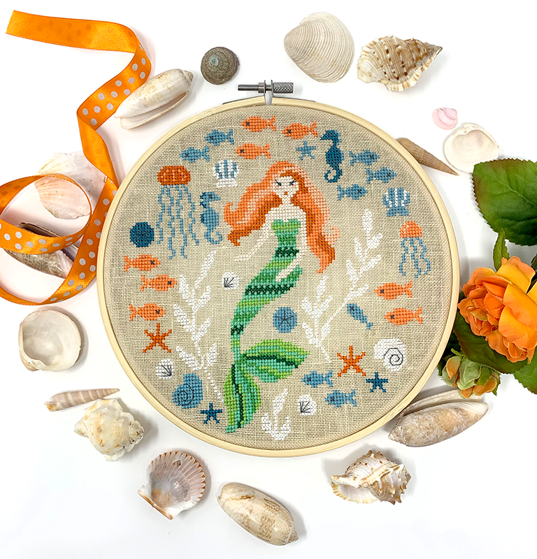 Mermaid Garden - Cross Stitch Pattern PDF