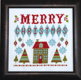 Merry Retro Christmas Cross Stitch Pattern Instant Download