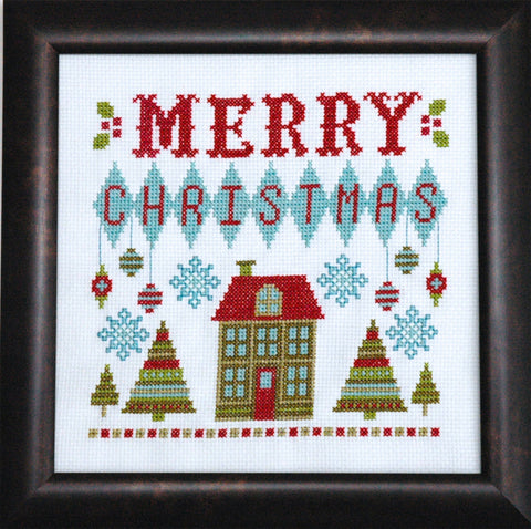Retro Christmas Cross Stitch Pattern Instant Download
