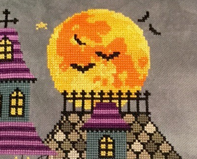 Modern Cross Stitch - The Haunted Mansion - Tiny Modernist 2018 Halloween SAL
