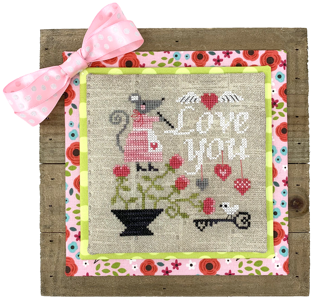 Mouse's Love Letter - Modern Cross Stitch Pattern PDF