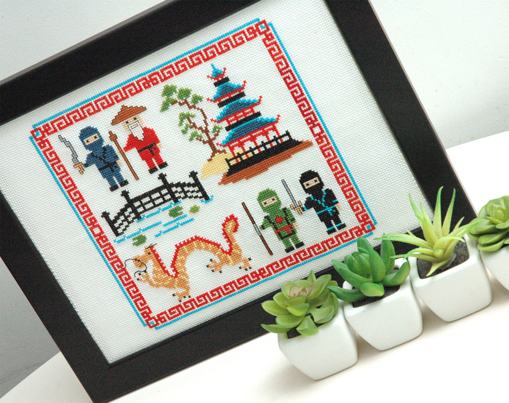 Cute Ninja Cross Stitch Pattern PDF Instant Download