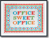 Office Sweet Office Cross Stitch Pattern Instant Download