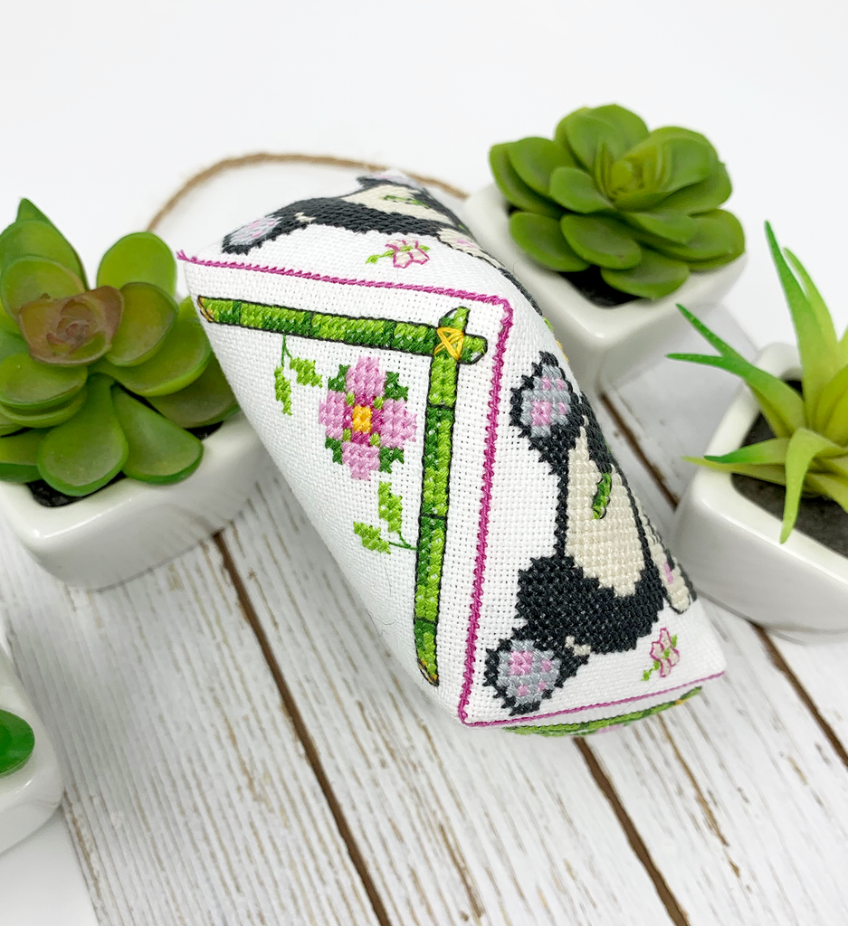 Panda Biscornu - Modern Cross Stitch Pattern