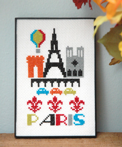 Paris Cross Stitch Chart Instant Download
