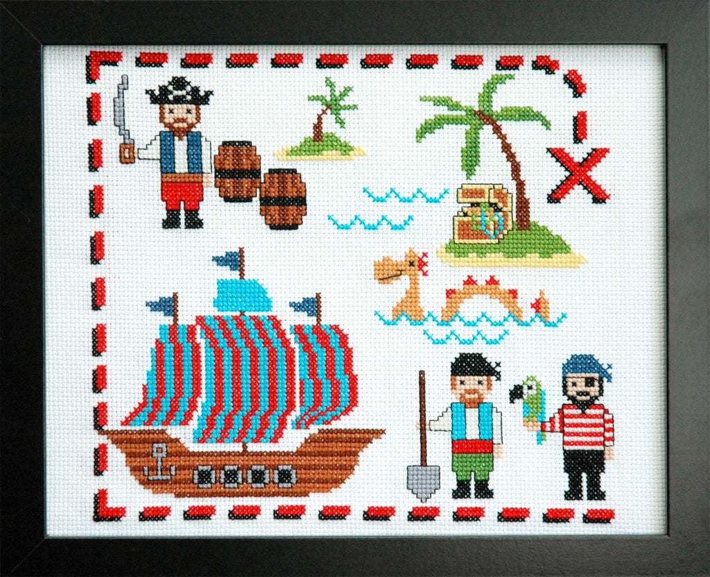 Cute Pirates Cross Stitch Pattern PDF Instant Download