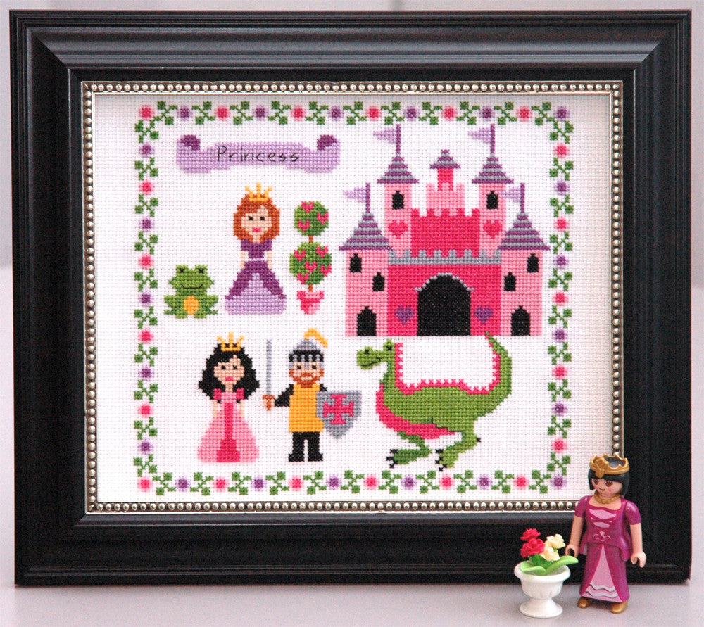 Cute Princess Cross Stitch Pattern Instant Download