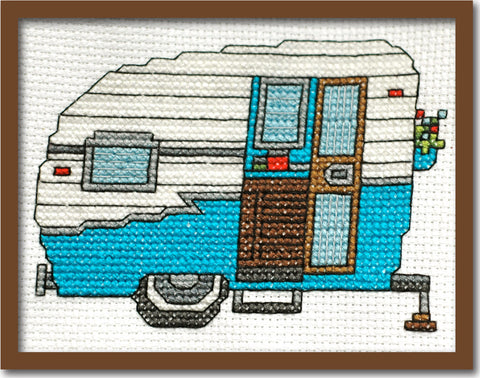 Vintage Camper Cross Stitch Pattern Instant Download