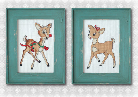 Rudolph & Clarice Cross Stitch Pattern Instant Download