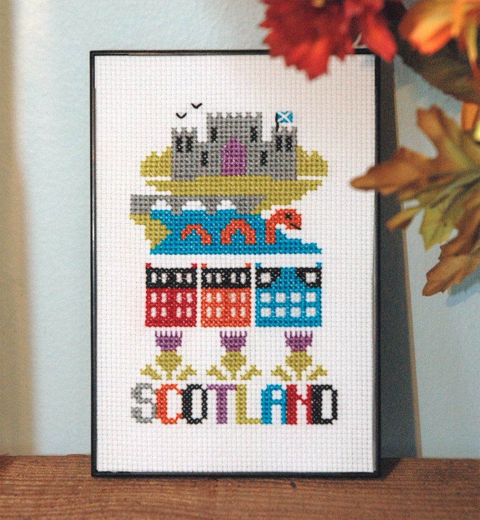 Scotland Cross Stitch Pattern Instant Download