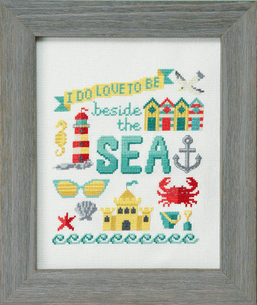 Beside the Sea Summer Cross Stitch Pattern Instant Download