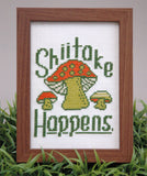 Shiitake Mushroom Cross Stitch Pattern Instant Download
