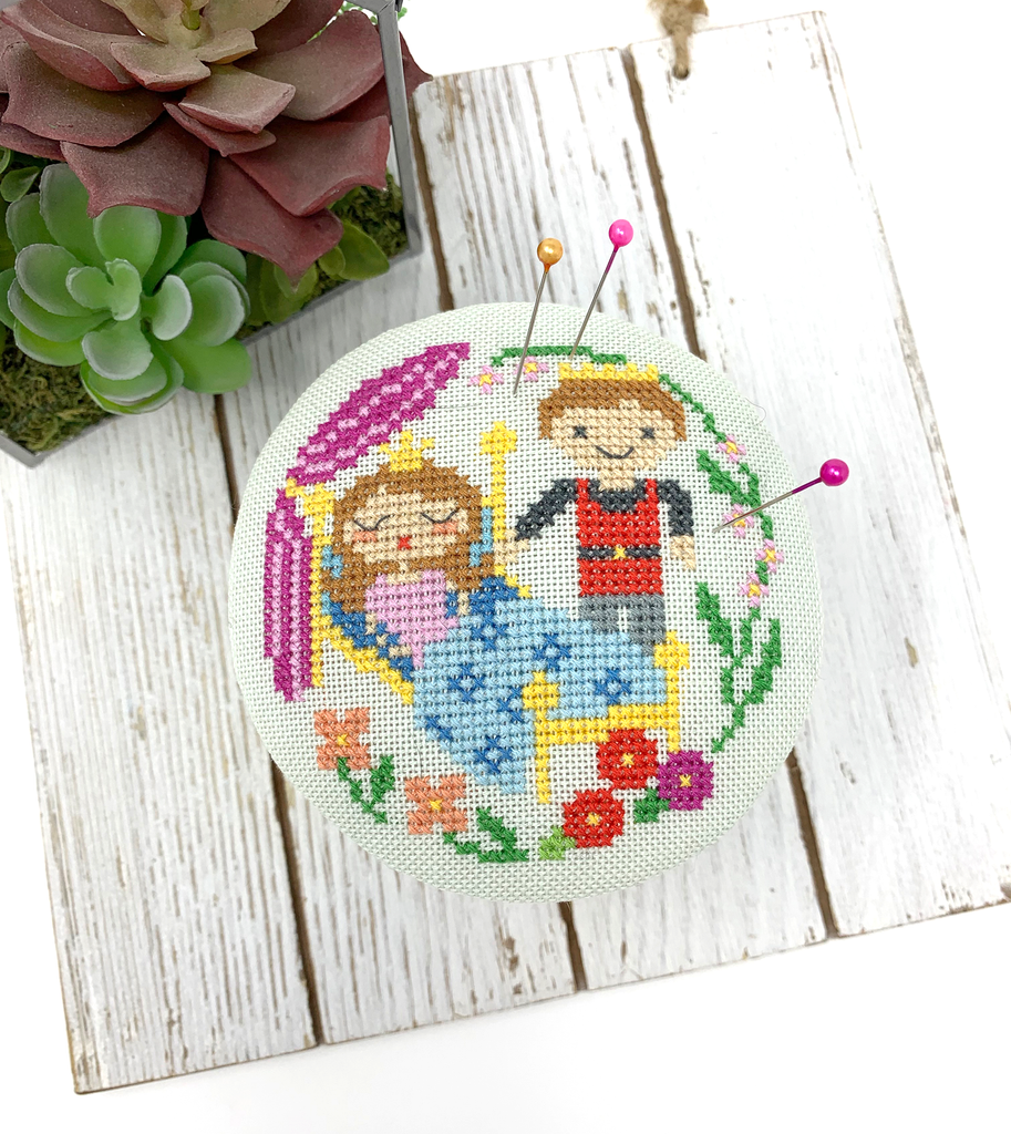 Sleeping Beauty Pin Cushion - Fairy Tale Series Cross Stitch Pattern