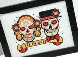 Sugar Skulls Rockabilly Cross Stitch Pattern Instant Download