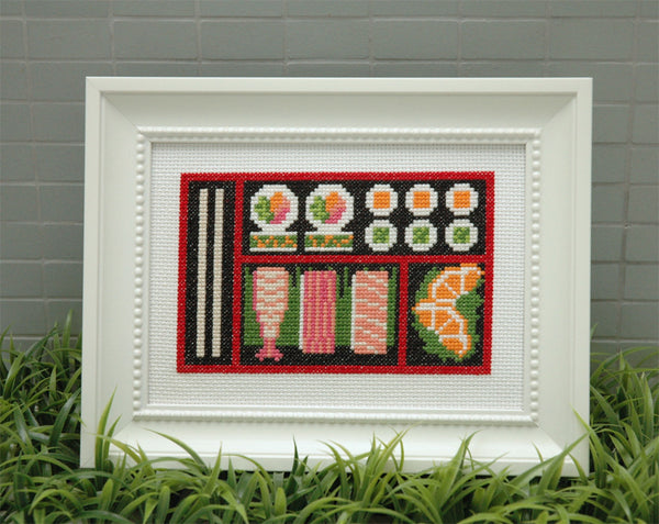 Sushi Bento Box Cross Stitch Pattern Instant Download