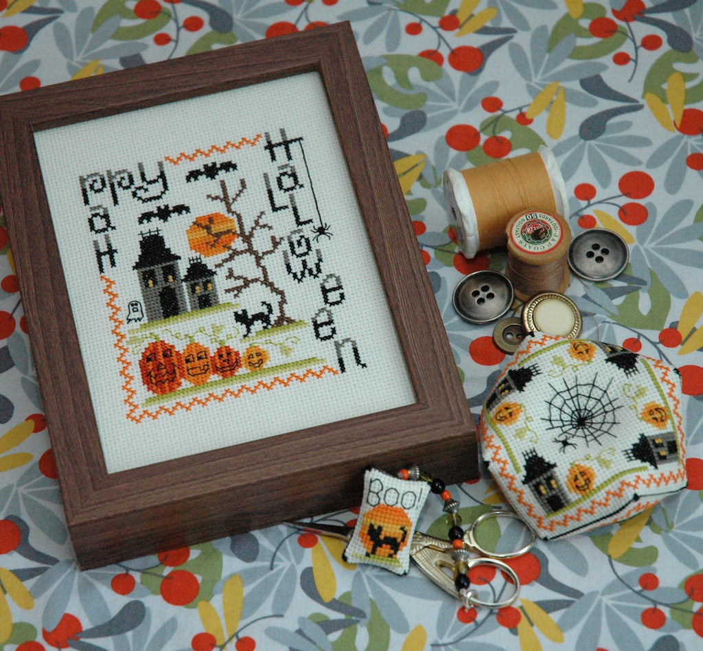 Spooky Halloween Set of 3 Cross Stitch Patterns Instant Download