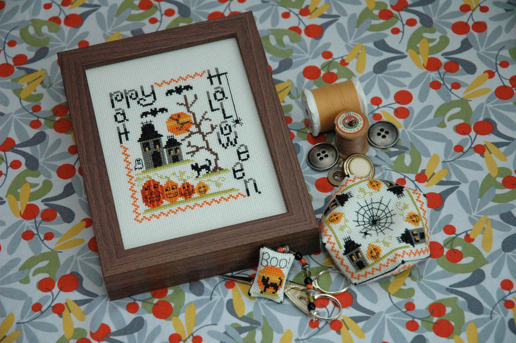 Spooky Halloween Trio Cross Stitch Patterns Instant Download