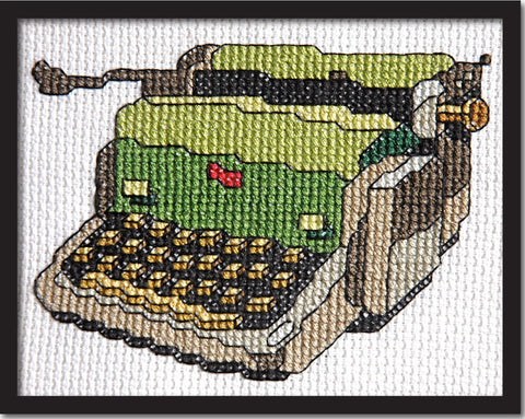 Vintage Typewriter Cross Stitch Pattern Instant Download