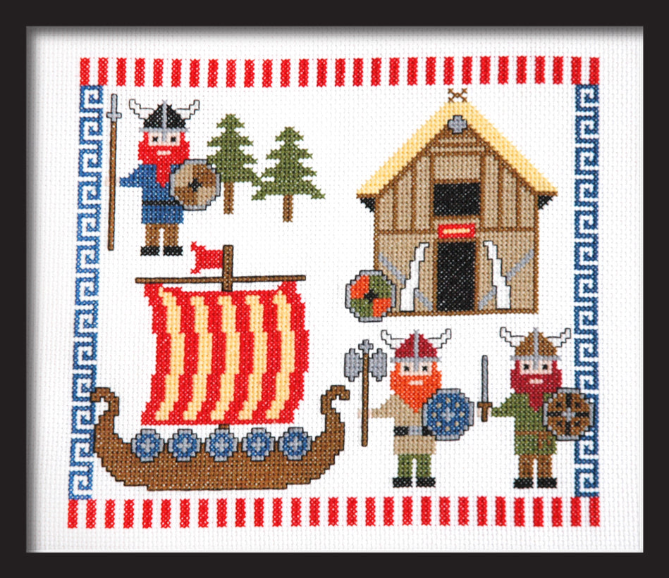 Cute Vikings Cross Stitch Pattern PDF Instand Download