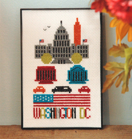 Washington DC Cross Stitch Pattern Instant Download
