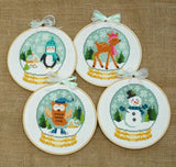Winter Cuties Four Cross Stitch Pattern Instant Download