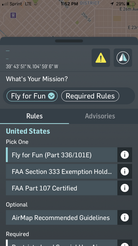 AirMap - Drone Flight Plan - Denver, Colorado