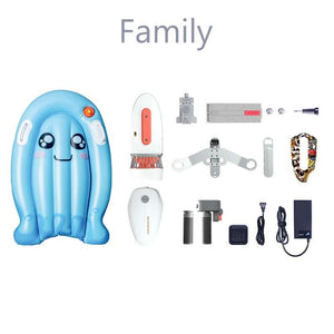 Sublue Whiteshark Tini Underwater Scooter disassembled Family package