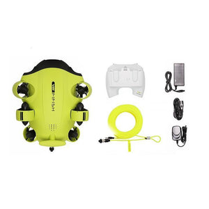 QYSEA FIFISH V6 Underwater Drone plus the included accessories