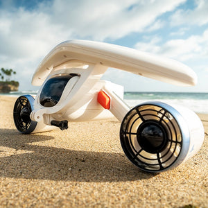 The Whiteshark Mix Underwater Scooter is one of the world most smallest scooter but can still perform quite well with its dual propellers.