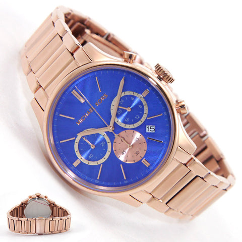 นาฬิกา Michael Kors รุ่น MK5911 Chronograph Blue Dial Rose Gold-tone Mens Watch