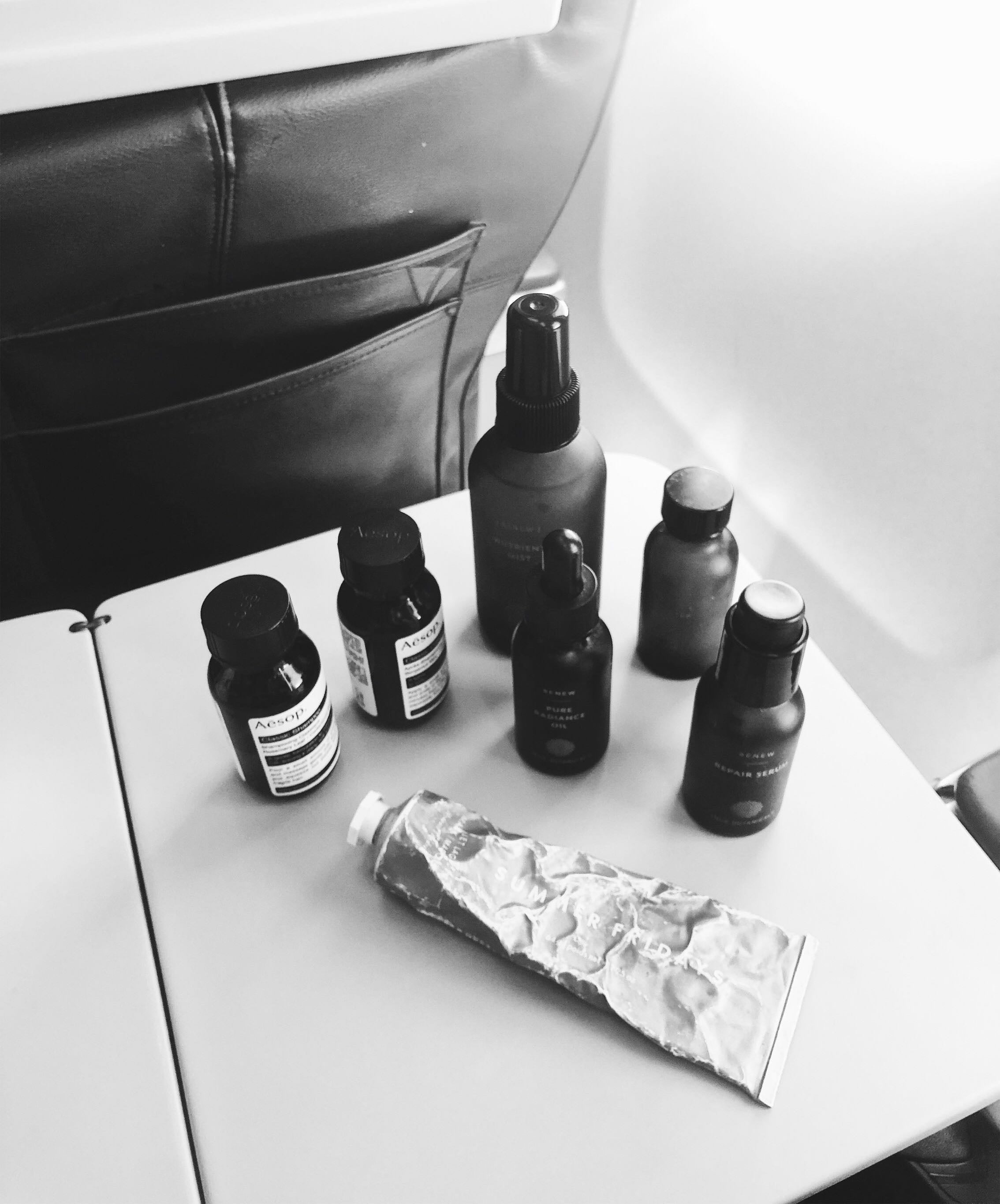 Janessa Leone Travel Essentials | Oils, Serums, Creams, and hydrating tips for flights