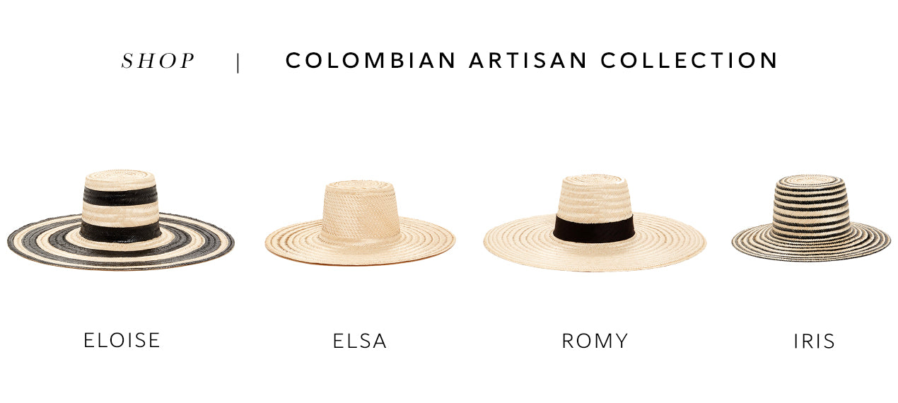 SHOP ARTISAN COLOMBIAN COLLECTION JANESSA LEONE HANDMADE HATS SUMMER STRAW WOMENS HATS