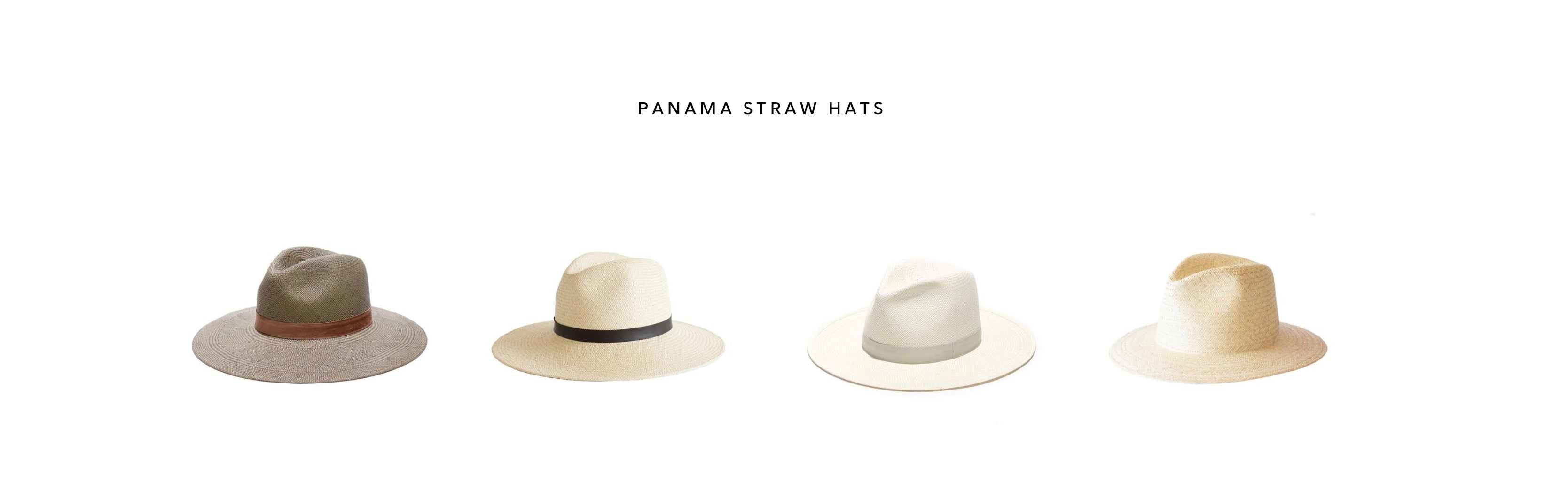 PANAMA STRAW HATS BY JANESSA LEONE